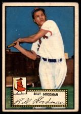 1952 Topps #23 Billy Goodman Very Good Red Back