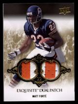 2008 Exquisite Matt Forte Dual Patch 6/50 Bears UD