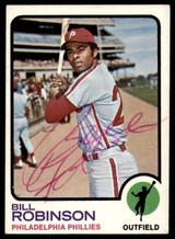1973 Topps #37 Bill Robinson Signed Auto Autograph