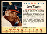 1963 Post Cereal #28 Leon Wagner BA .278 Excellent+ AVG .272