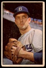 1953 Bowman Color #12 Carl Erskine Brooklyn Dodgers G-VG