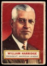 1956 Topps #1 Will Harridge PRES Good  ID: 158634