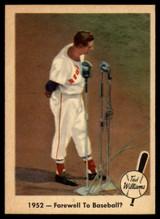 1959 Fleer Ted Williams #45 1952 - Farewell To Baseball? NM-MT