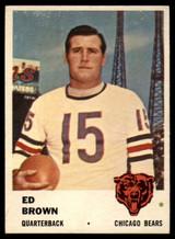 1961 Fleer #1 Ed Brown NM+