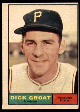 1961 Topps #1 Dick Groat Excellent  ID: 132013