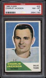 1960 Fleer #25 Charlie Jackson PSA 8 NM-Mint  ID: 135091