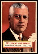 1956 Topps #1 Will Harridge PRES Poor  ID: 198078