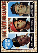 1968 Topps #1 Roberto Clemente/Tony Gonzalez/Matty Alou LL N.L. Batting Leaders EX Excellent