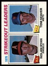 1977 Topps #6 Nolan Ryan/Tom Seaver Strikeout Leaders Near Mint+  ID: 146939