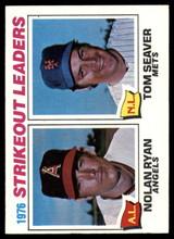 1977 Topps #6 Nolan Ryan/Tom Seaver Strikeout Leaders Near Mint+  ID: 146941
