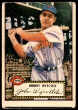 1952 Topps #13 Johnny Wyrostek Good