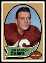 1970 Topps #1 Len Dawson UER Excellent+  ID: 157411