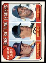 1969 Topps #1 Carl Yastrzemski/Danny Cater/Tony Oliva A.L. Batting Leaders Ex-Mint  ID: 150294