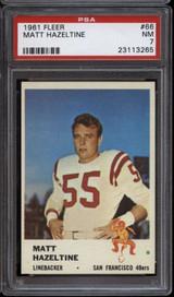 1961 Fleer #66 Matt Hazeltine PSA 7 Near Mint  ID: 127268