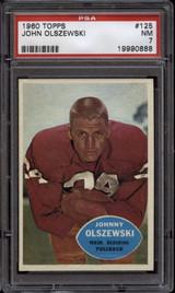 1960 Topps #125 John Olszewski PSA 7 Near Mint Washington NFL Football