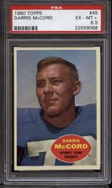 1960 Topps #45 Darris McCord PSA 6.5 EX-Mint+ RC Rookie