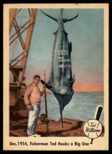 1959 Fleer Ted Williams #54 Dec. 1954, Fisherman Ted Hooks a Big One EX++ Excellent++  ID: 116626