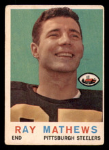 1959 Topps #11 Ray Mathews Very Good  ID: 270181