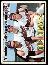 1967 Topps #1 Frank Robinson/Hank Bauer/Brooks Robinson The Champs DP VG-EX  ID: 166087