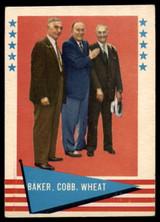 1961 Fleer #1 Frank Baker/Ty Cobb/Zack Wheat Excellent+ Marked