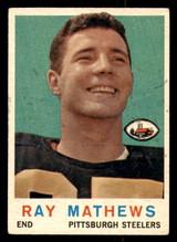 1959 Topps #11 Ray Mathews Very Good  ID: 268414