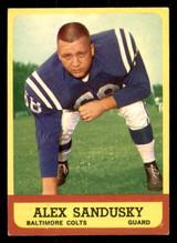 1963 Topps #6 Alex Sandusky Very Good