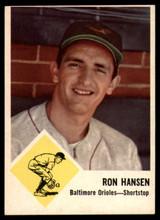 1963 Fleer #2 Ron Hansen Excellent+  ID: 149623