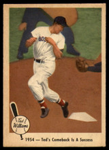 1959 Fleer Ted Williams #53 1954 - Ted's Comeback Is A Success EX++ Excellent++