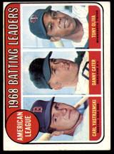 1969 Topps #1 Carl Yastrzemski/Danny Cater/Tony Oliva A.L. Batting Leaders Excellent+  ID: 150295