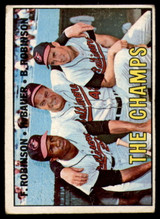 1967 Topps #1 Frank Robinson/Hank Bauer/Brooks Robinson The Champs DP Very Good  ID: 150046