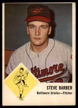 1963 Fleer #1 Steve Barber Very Good  ID: 169312