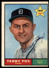 1961 Topps #459 Terry Fox Signed Auto Autograph RC Rookie