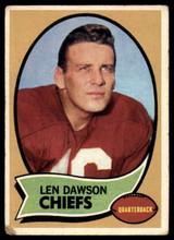 1970 Topps #1 Len Dawson UER Very Good  ID: 151932