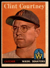 1958 Topps #92 Clint Courtney Senators EX+