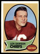 1970 Topps #1 Len Dawson UER Very Good  ID: 154525