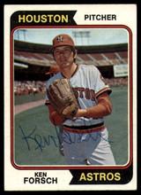 1974 Topps #91 Ken Forsch Signed Auto Autograph
