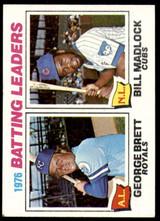 1977 Topps #1 George Brett/Bill Madlock Batting Leaders Ex-Mint  ID: 189747