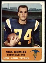1962 Fleer #65 Nick Mumley NM Near Mint  ID: 116532
