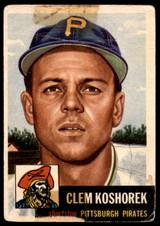 1953 Topps #8 Clem Koshorek DP Poor  ID: 227878