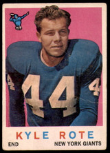 1959 Topps #7 Kyle Rote G-VG