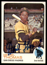 1973 Topps #57 Derrel Thomas Signed Auto Autograph