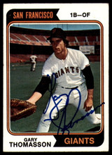 1974 Topps #18 Gary Thomasson Signed Auto Autograph RC Rookie