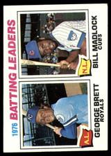 1977 Topps #1 George Brett/Bill Madlock Batting Leaders Excellent+  ID: 146948