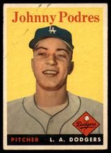 1958 Topps #120 Johnny Podres EX Excellent