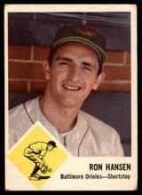 1963 Fleer #2 Ron Hansen VG Very Good