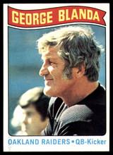 1975 Topps #7 George Blanda Black Jersey Near Mint  ID: 159327