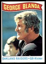 1975 Topps #7 George Blanda Black Jersey Near Mint  ID: 159329