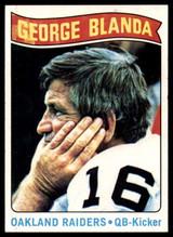 1975 Topps #8 George Blanda White Jersey Near Mint