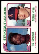 1980 Topps #206 J.R. Richard/Nolan Ryan LL NM-Mint  ID: 146088