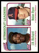 1980 Topps #206 J.R. Richard/Nolan Ryan LL NM-Mint  ID: 146090